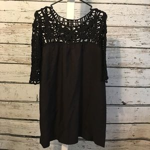 Hot & Delicious Black Dress/Tunic Size Medium